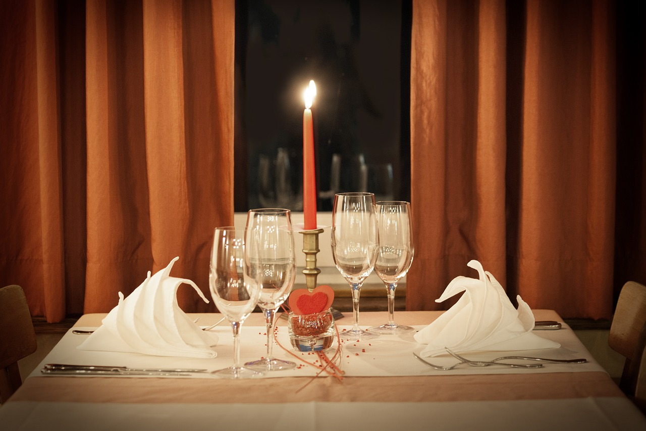Organiser un dîner romantique